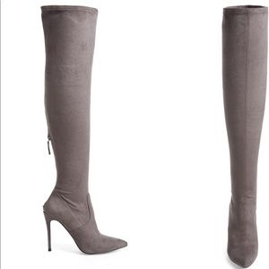 Steve Madden Devine Over the Knee Boots Grey